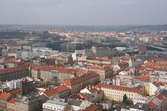Prague  from hill Royalty Free Stock Photo