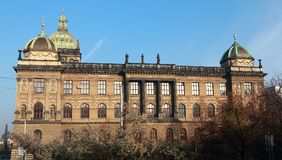 Prague national museum Czech Royalty Free Stock Images