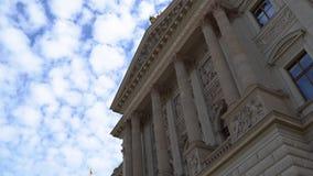Prague National Museum. Hyperlapse 4k stock footage
