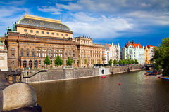 Prague National Theater Stock Photo