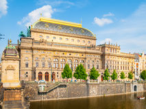 Prague National Theater on sunny day stock photos