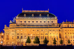 Prague, National Theatre in night. Czech Republic Royalty Free Stock Photography