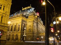 Prague nationell teater Royaltyfria Bilder