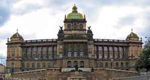 Prague nationellt museum, Tjeckien Royaltyfri Fotografi