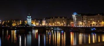 Prague natt Arkivbild