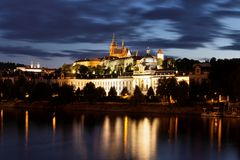 Prague at nigh Stock Image