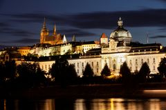 Prague at nigh Stock Photography