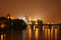 Prague at night Royalty Free Stock Image