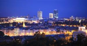 Prague at night Royalty Free Stock Images
