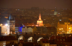 Prague in the night Stock Images