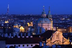 Prague in night Royalty Free Stock Photo