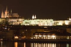 Prague at night Stock Image