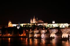 Prague Night Stock Photography
