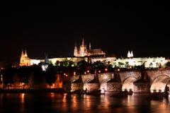 Prague Night. Charles Bridge & Prague Castle at night Stock Photography