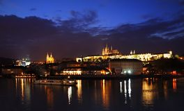 Prague at night Stock Photo