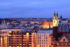 Prague at night Royalty Free Stock Images