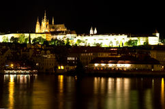 Prague at night. Czech republic Royalty Free Stock Images