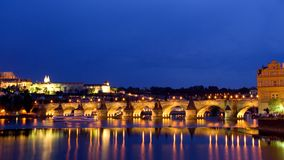Prague at night Royalty Free Stock Photos