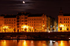 Prague at night. Royalty Free Stock Image