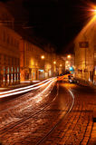 Prague at night. Mystical streets of old Prague at night Stock Photography