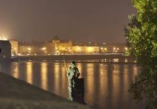 Prague at night royalty free stock photo