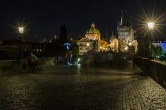 Prague at night Stock Photography