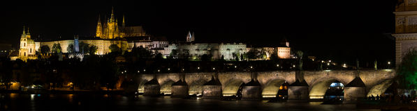 Prague at night. Stock Photo