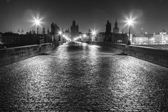 Prague by Night Royalty Free Stock Photos