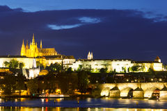 Prague Night Cityscape Royalty Free Stock Image