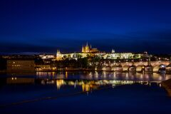 Prague by night, Czech Republic Stock Image