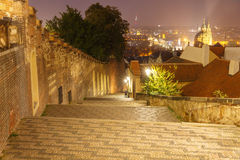 Prague at night. Royalty Free Stock Photography