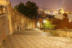 Prague at night. Royalty Free Stock Photography