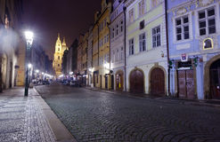 Prague in night.   Czechia Royalty Free Stock Images