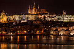 Prague by night Stock Image