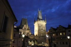 Prague at night Stock Photography