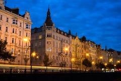 Prague at night Stock Photo