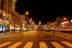 Prague Night Scenery Stock Images