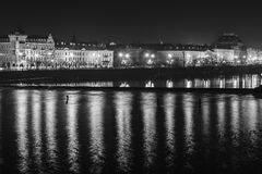 Prague by Night Stock Images