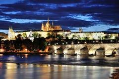 Prague at night Royalty Free Stock Photos
