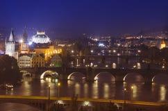 Prague at Night Royalty Free Stock Photography