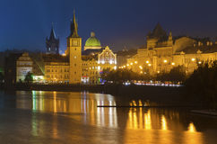 Prague at Night Stock Images