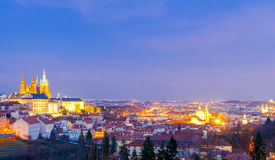 Prague at night. Royalty Free Stock Photo