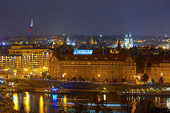 Prague By Night Royalty Free Stock Image