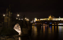 Prague night view 1 Stock Photos