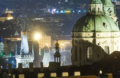 Dome of St. Nicholas from Prague Castle royalty free stock photos