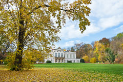 PRAGUE - NOVEMBER 8, 2014 - Kinsky slott Musaion, Prague, tjeck Arkivfoton