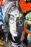 PRAGUE - NOVEMBER 8 - Prague Lennon vägg, Tjeckien, Europa Royaltyfri Bild