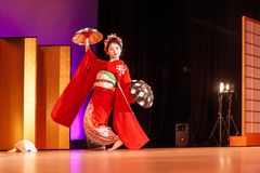 Japanese Traditional Dance Royalty Free Stock Photos