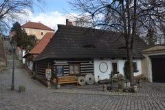 Prague - Novy Svet - U Raka Arkivbild