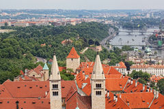 Prague from an observation deck Royalty Free Stock Image